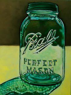 """""""Ball Mason Jar"""" © Margaret Horvat SOLD See more at margarethorvat.blogspot.ca"""