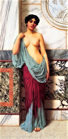 At the Thermae  by John William Godward 1909