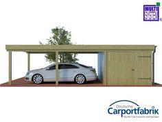 MULTI-Doppelcarport mit Abstellraum und starken 125kg/m² Dachlast