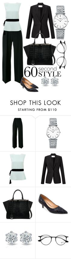 """""""Interview style"""" by akshera ❤ liked on Polyvore featuring Neil Barrett, Longines, Raoul, Finesse, Fendi, Trotters, Ray-Ban, jobinterview and 60secondstyle"""