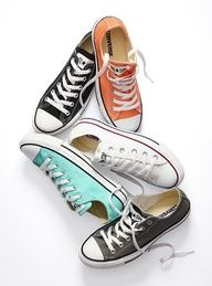 Converse. Love the mint ones. And peach. And all of them really.