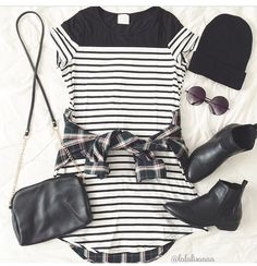 Black and white out fit with booties