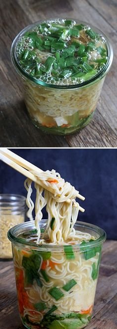 Friday: Gluten Free Instant Noodle Cups Instant Noodle Cups: perfect for a quick lunch and SO much healthier than store-bought (gf, vegan).Instant Noodle Cups: perfect for a quick lunch and SO much healthier than store-bought (gf, vegan). Lunch Snacks, Lunch Recipes, Soup Recipes, Whole Food Recipes, Healthy Snacks, Vegetarian Recipes, Cooking Recipes, Healthy Recipes, Vegan Lunches