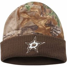 purchase cheap a756d b90ab Mens Dallas Stars Old Time Hockey Realtree Camo Fralls Cuffed Knit Hat,  Sale
