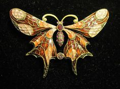 Hey, I found this really awesome Etsy listing at https://www.etsy.com/listing/461363138/vintage-pink-enamel-rhinestone-butterfly