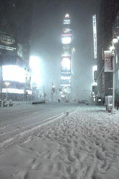 Snow, Times Square, New York City photo via fern