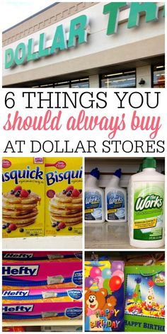 Trying to save more money? Check out the dollar stores to save some cash. See the 6 things you should always buy at dollar stores.