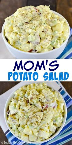 Just a few ingredients makes this potato salad the best side dish! Perfect for picnics and barbecues! Just a few ingredients makes this potato salad the best side dish! Perfect for picnics and barbecues! Potato Dishes, Potato Recipes, Food Dishes, Best Side Dishes, Side Dish Recipes, Picnic Side Dishes, Barbecue Side Dishes, Easy Salads, Summer Salads