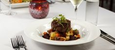Black Angus Fillet, Vegetables & Red Wine Jus. Temple of Tastes Restaurant - Sea Temple Resort & Spa Palm Cove