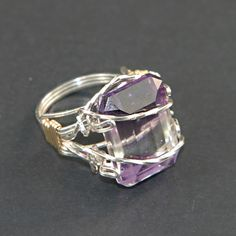 Tutorial Wire and Stone Bangles | Wire Wrapped Prong Ring with Faceted Stone Tutorials
