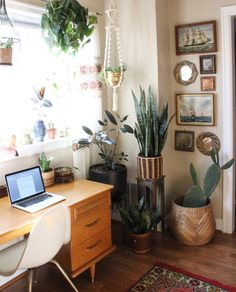 Bohemian inspired office space