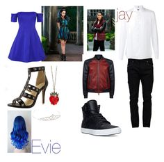 """""""Family day: evie and jay"""" by hphillips636 ❤ liked on Polyvore featuring Kendall + Kylie, FAY, Dsquared2, Valentino, Disney, Charlotte Russe and Supra"""