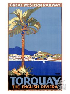 Torquay/Great Western Railway Giclee Print by William A. Sennet at Art.com