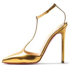 Christian Louboutin Fall 2012 T-Piga Leather Sandals Gold