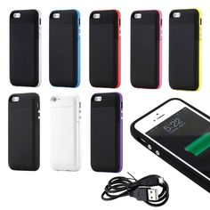 Gearonic External Rechargeable 2500mAh Backup Battery Case for iPhone 5 5S #5273ALL