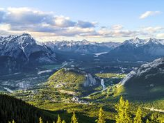 The payoff for an eight-minute gondola ride up Banff's Sulphur Mountain is 360-degree views of six Canadian Rockies mountain ranges. Not bad, eh?