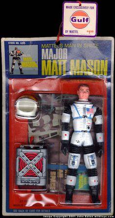 Major Matt Mason Action Figure by Mattel Vintage Toys 1960s, 1960s Toys, Retro Toys, 1970s, Gi Joe, Childhood Toys, Childhood Memories, Videogames, Old School Toys