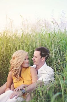 Beautiful rustic engagement photo -  (field where we did Cera's cowgirl hat pics would be perfect!).