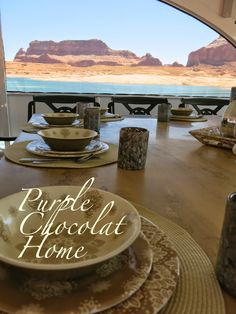 Purple Chocolat Home: Lake Powell Living Tablescape