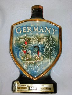 Most Expensive Jim Beam Bottles   Vintage Jim Beam Collectible Whiskey Bottle - Germany 1970