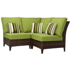 Belmont Brown Wicker Patio Sectional Seating From Target.com. Reasonably priced.