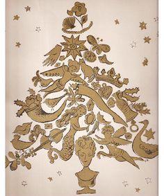 Christmas, 1957. Andy Warhol