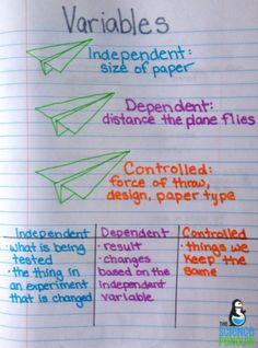 Science process skills anchor charts!
