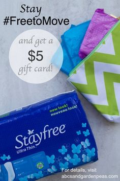 Try Stayfree and stay #FreetoMove this summer! Get a $5 gift card when you buy 3 products – details #ontheblog #shop #cbias