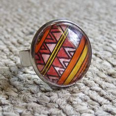 abstract ring painted with a hand