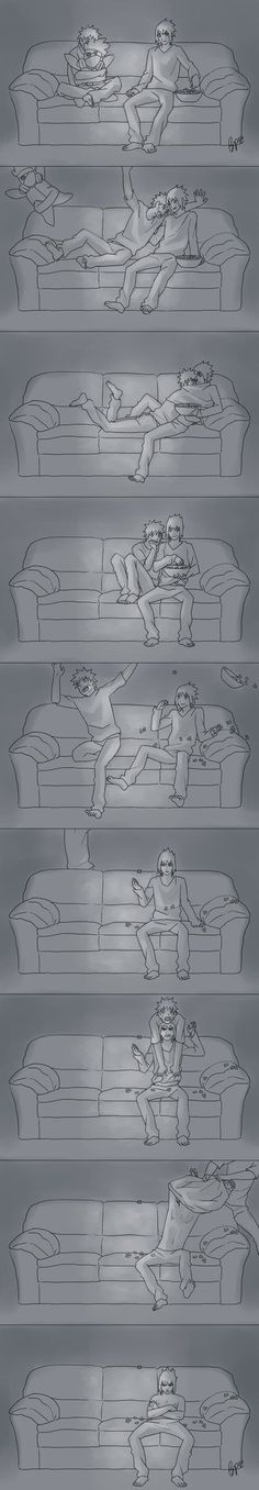 Movie Night by biscutpoo #narusasu #sasunaru