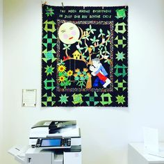 My real library mission was to see this exhibit of quilts from my book club The Undercover Quilters. These were all inspired by On the Divinity of Second Chances by Kaya McLaren. #librariesofinstagram #libraries #quiltsinlibraries
