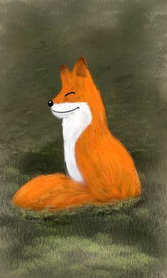 Le Renard - carte d'oracle Fox, Painting, Animals, Stone, Animales, Animaux, Painting Art, Paintings, Animal Memes