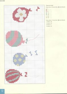 Really cute cross-stitch balloons - could do something similar with an individual balloon or make a few into a bunch. Maybe on a card?