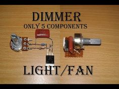 Simple Light Dimmer / Fan regulator or dimmer with BT 136 Hobby Electronics, Electronics Components, Electronics Projects, Basic Electrical Wiring, Electrical Projects, Electronic Circuit Design, Electronic Engineering, Simple Circuit, Lcd Television