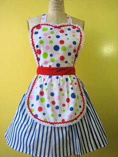 You would sure brighten things up with this apron!