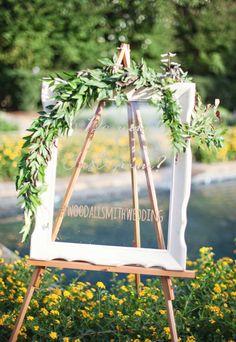 Window wedding sign: http://www.stylemepretty.com/2014/01/20/oak-hill-the-martha-berry-museum-wedding/ | Photography: Paperlily - http://www.paperlilyphotography.com/