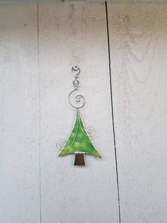 Funky Christmas Tree Abstract Ornament Stained Glass Tree