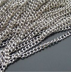 10 m White K Color Chain/Iron Necklace Chain/Soldered Jewelry Chain