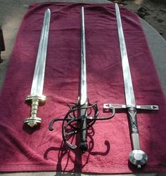 Medieval sword and dagger
