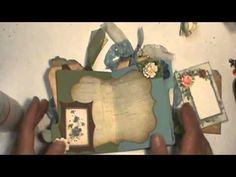 mini file folders for scrapbooking | Shabby chic Blue flowers mini file folder ... | Altered Art Techniques