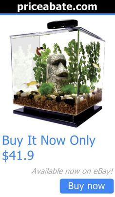 Animals Fish And Aquariums: Cube Aquarium Starter Kit Tank Led Light Water Filter Betta Goldfish Small Fish BUY IT NOW ONLY: $41.9 #priceabateAnimalsFishAndAquariums OR #priceabate