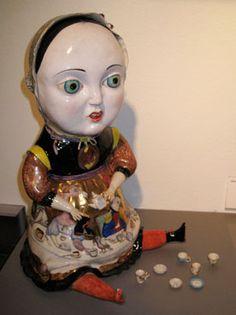High Tea. Porcelain sculpture by Irina Zaytceva