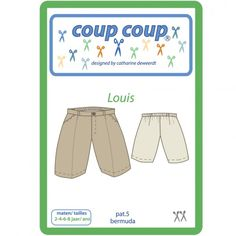 """Patron Coup Coup -  Bermuda enfant """"Louis"""""""