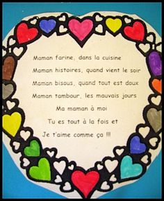 Fête des mamans - Coeur fondant - Maman, c'est pour… - Doigts de pieds en… - Maman-coeur - La recette magique!! - Vide tes poches,… - Les petits bout 2 fee School Projects, Projects To Try, Diy For Kids, Crafts For Kids, Mather Day, Mother's Day Activities, French Kids, Mothers Day Crafts, Kids Songs