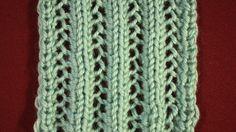 Knitting Pattern Help: Lacy Mesh Pattern Continental Method