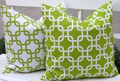 Green Pillow Covers Decorative Throw Pillow by FestiveHomeDecor, $28.00