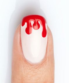 Halloween Nail Art So Simple, It's Scary its actually pretty in a scary way thats only because i love red