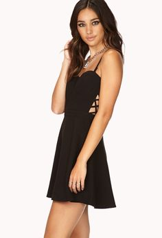 Caged Fit & Flare Dress | FOREVER21