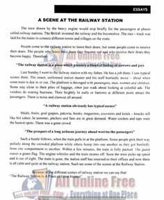 Railway essay in english
