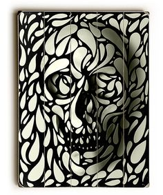Black & White Skull Wall Art #zulily *This is awesome